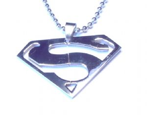 Superman steel chain pendant fashion necklace - Prop Replica